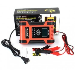 Универсално зарядно за акумулатор 12V/24V 6Ah до 200Ah - LiFePO4, AGM, GEL, VRLA, DEEP CYCLE, CALCIUM
