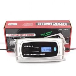 Универсално зарядно за акумулатор 12V/24V до 200Ah - Тягов, AGM, GEL, VRLA, мокър, стартов