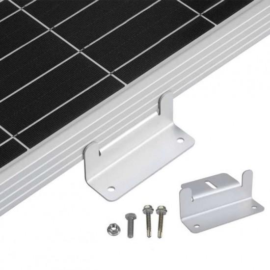 Алуминиеви скоби за захващане на соларен панел към каравана - кемпер