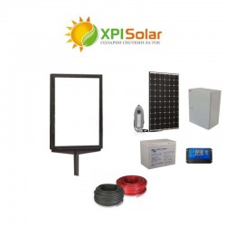 Соларна фотоволтаична система за осветление на табела 50W