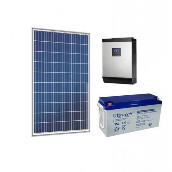 Хибридна соларна система хладилник, компютър, осветление, телевизия