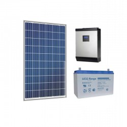 Хибридна соларна система за ТВ, осветление, хладилник, помпа 1.5KW