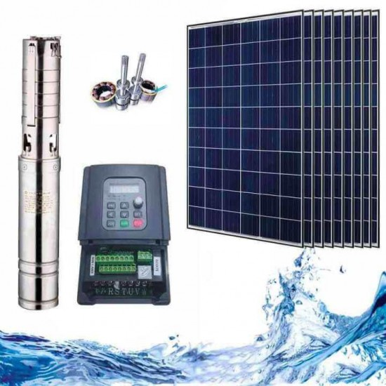 """4"""" Соларна помпа за вода 3.4 куб.м/час, 160 м, 1500W"""