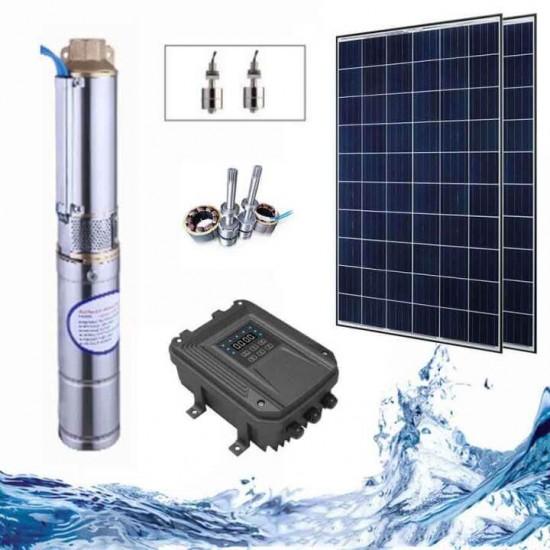 """3"""" Соларна помпа за вода 3.2 куб.м/час, 40 м, 400W"""