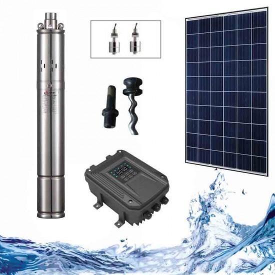 """3"""" Соларна помпа за вода 1.3 куб.м/час, 50 м, 140W"""