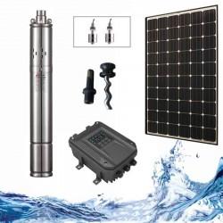"3"" Соларна помпа за вода 1.8 куб.м/час, 80 м, 210W  с табло"
