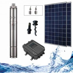 """3"""" Соларна помпа за вода 1.8 куб.м/час, 100 м, 270W"""
