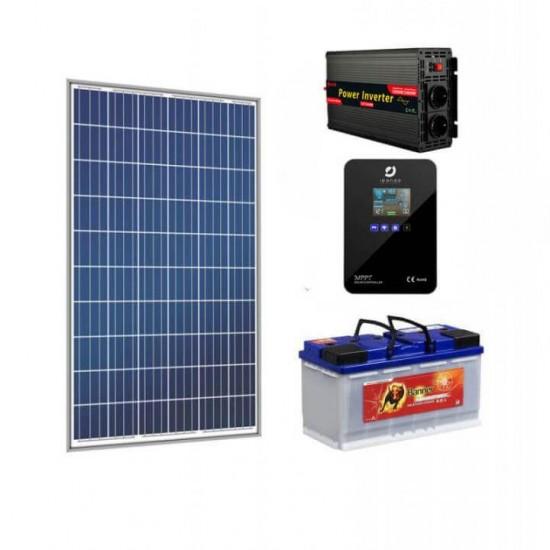 Автономна соларна система за телевизор, осветление, лаптоп