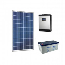 Хибридна соларна система за вила 4KW