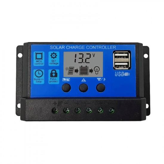 Соларен контролер 10А PWM с дисплей